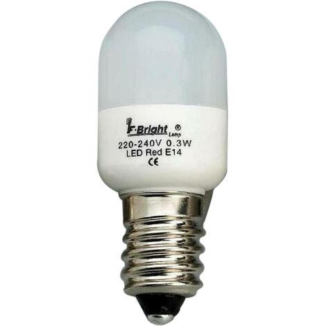 Lámpara pebetera Led colores E14 0,3W blanco 22x53mm. (F-BRIGHT 2601494-BL)