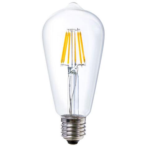 Lámpara pera cristal Led E27 6W 3000°K 650Lm (Ledesma 09365)