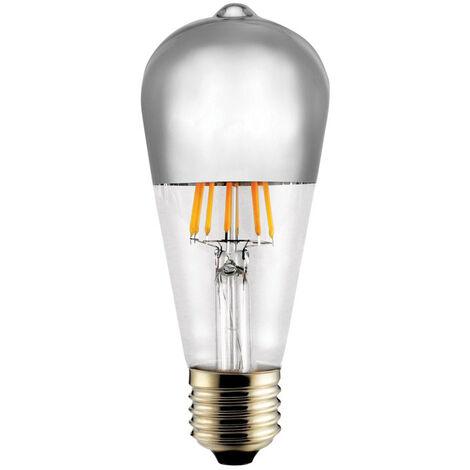 Lámpara pera reflectora cristal Led plata E27 8W 2700°K (Cristal Record 51-364-08-381)