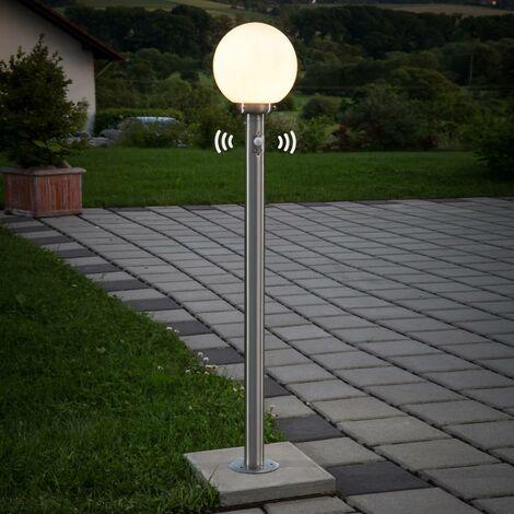 Lámpara pie esférica Vedran detector de movimiento