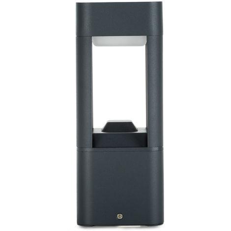 Lámpara Pie LED Exterior IP54 120x300mm 10W Gris Aluminio + PC [SL19-C001A_G-WW] | Blanco Cálido (SL19-C001A_G-WW)