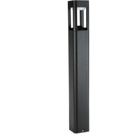 Lámpara Pie LED Exterior IP54 120x900mm 10W Negra Aluminio + PC [SL19-C001C_B-WW] | Blanco Cálido (SL19-C001C_B-WW)