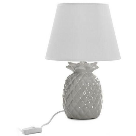 lámpara piña gris 34x17x17
