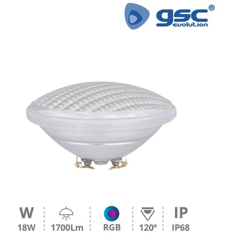 Lampara piscina PAR56 LED 18W G53 RGB