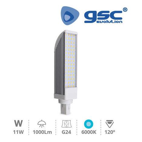 Lámpara PL giratoria 52LEDs 11W G24 6000K 230V