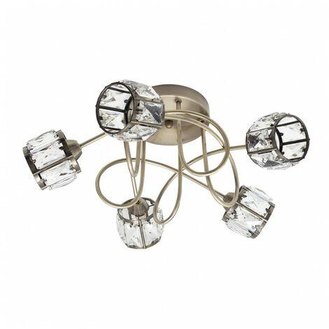 Lámpara Plafon Esencia Cuero 5xg9 de FABRILAMP.