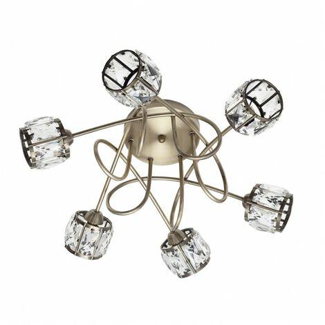 Lámpara Plafon Esencia Cuero 6xg9 de FABRILAMP.