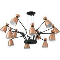 Lámpara-plafón RETRO (12 luces)