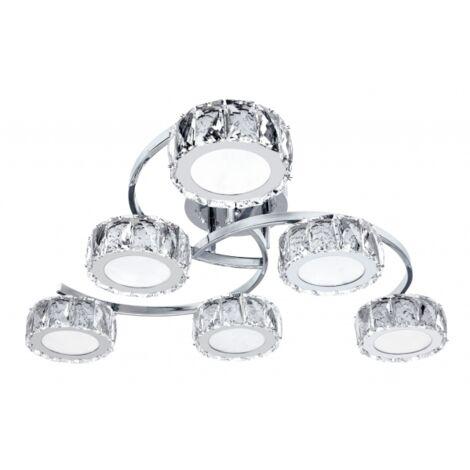 Lampara Radiante cromo/cristal 4000K 72W D61
