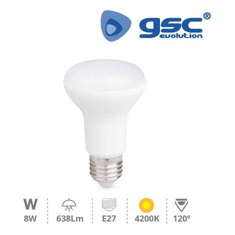 Lámpara Reflectora R63 LED 8W E27 4200K