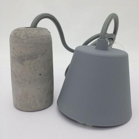 Lámpara Retro Cemento (gris)