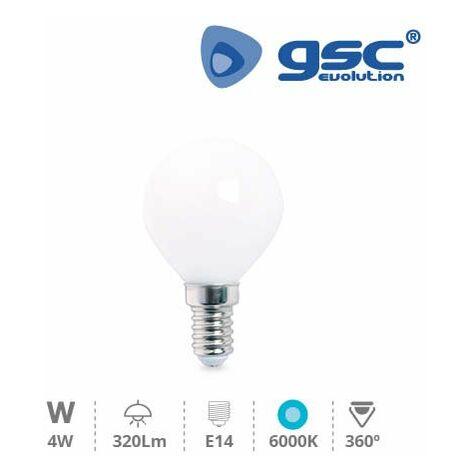 Lámpara Serie Cristal Esférica LED 4W E14 6000K