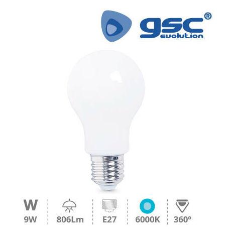 Lámpara Serie Cristal Estandar LED 9W E27 6000K