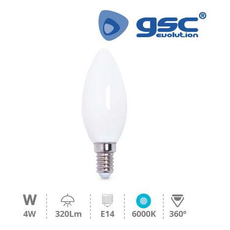 Lámpara Serie Cristal Vela LED 4W E14 6000K