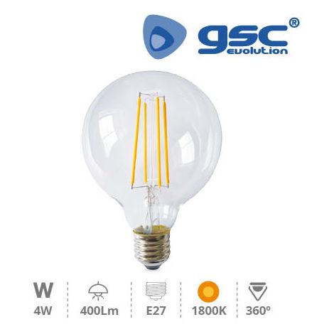 Lámpara Serie Oro deco. globo G95 LED 4W E27 1800K