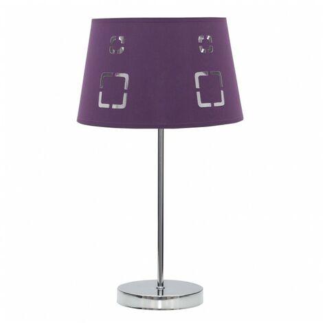 Lámpara Sobremesa Celaya 1xe14 Berenjena de FABRILAMP.