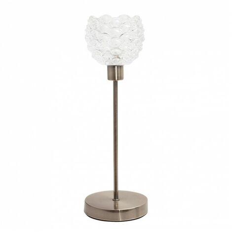 Lámpara Sobremesa Coventry 1xe14 Cuero 40x13x13 de FABRILAMP.