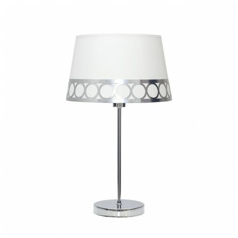 Lámpara Sobremesa Dalia 1xe14 Blanco/plata de FABRILAMP.