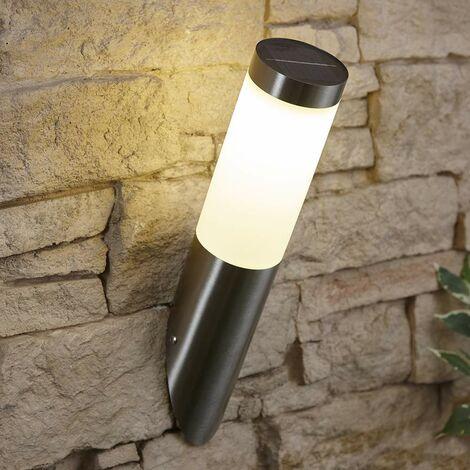 Lámpara Solar Biard Basford Acero Inoxidable IP44 Resistente a la Intemperie