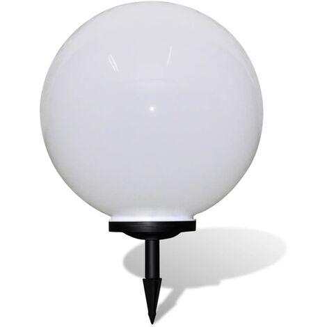 Lámpara solar de jardín en forma de bola con LED, 50 cm - Bianco