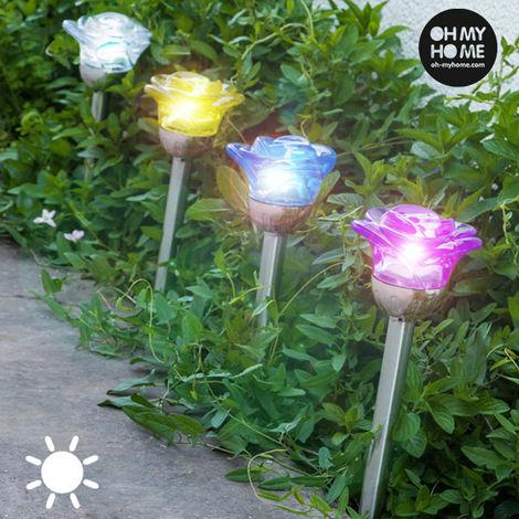 Lámpara Solar Flower Oh My Home