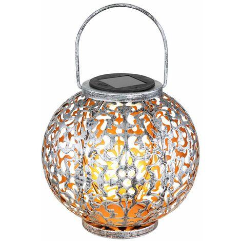 Lámpara solar lámpara solar exterior lámpara solar LED orientales exterior, efecto de luz colgante de pie, 1x LED blanco cálido, DxH 20x29 cm, terraza jardín
