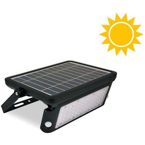 Lámpara solar LED 10W para exterior IP65 con sensor PIR