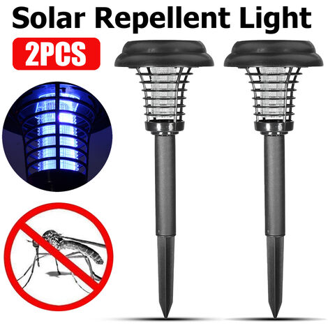 Lámpara solar LED, lámpara asesina de mosquitos, panel solar 6000MA, repelente de insectos para exteriores, lámpara de mosquito para jardín y mosca