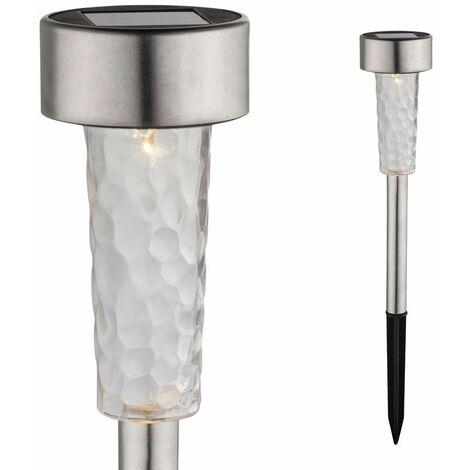 Lámpara Solar LED Lámpara de pie Lámpara de acero inoxidable IP44 Iluminación exterior satinado  Globo 33553-24