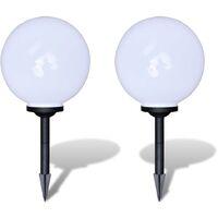 6e0989e954da Lámpara solar LED para el jardin 30cm 2 uds con pica de tierra