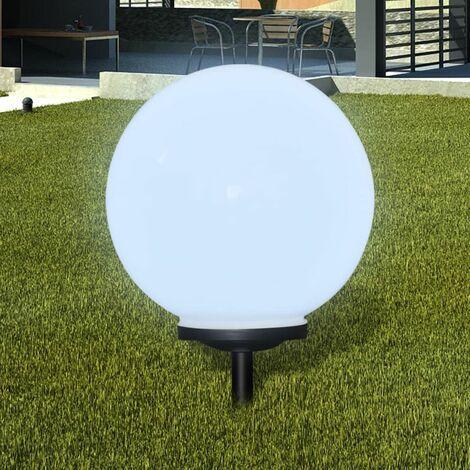 Lampara solar LED para el jardin 40 cm con pica de tierra