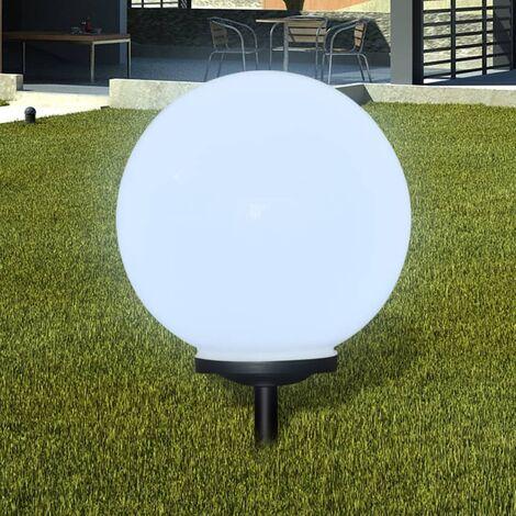 Lámpara solar LED para el jardín 40 cm con pica de tierra - Blanco