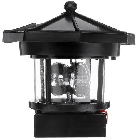 Lámpara solar LED para jardín Faro giratorio ABS 105x90MM
