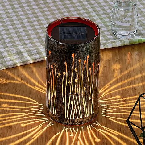 Lámpara solar LED Tamol, cilíndrica