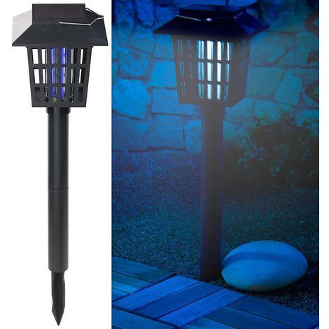 Lámpara solar - Linterna solar y trampa para insectos con LED UV