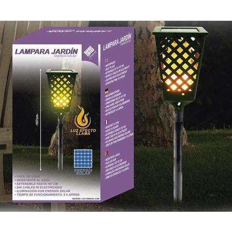 Lámpara Solar Llama Jardín