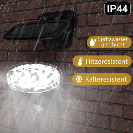 Lámpara solar para exteriores con 15 luces LED y sensor de movimiento