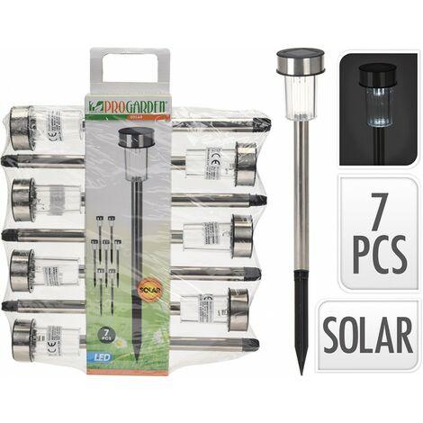 Lámpara Solar set de 7 pinchos 33cm