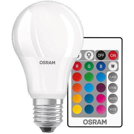 Lámpara standard Led 2700°K + RGB con mando a distancia E27 9W 806Lm (Osram 4058075045675) (Blíster)