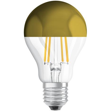 Lámpara standard reflectora filamento Led cúpula oro E27 7W 2700°K (Osram 4058075114616) (Blíster)