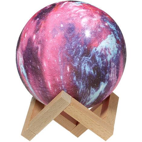 Lampara Star Moon de impresion 3D, Luz de mesa de noche, 20cm / 7.9in