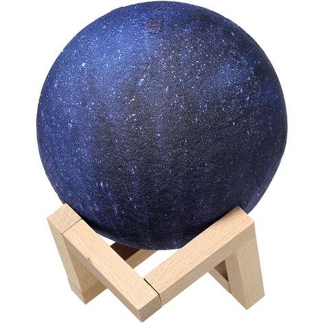 Lampara Star Moon de impresion 3D, USB, 10cm/3.94in,C