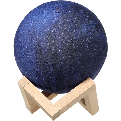 Lampara Star Moon de impresion 3D, USB, 8cm/3.15in,C