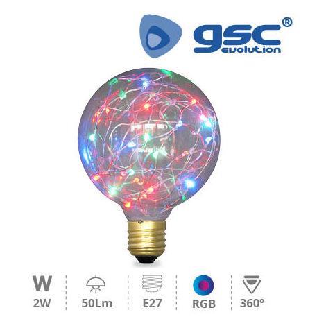 Lampara Starlight deco.globo G95 LED 2W E27 RGB