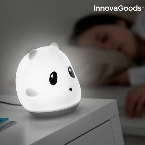 Lámpara Táctil Recargable de Silicona Panda InnovaGoods