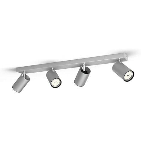 "Lámpara Techo ""Kosipo"" Aluminio 4 x GU10 Sin Bombilla [PH-5059448PN] (PH-5059448PN)"