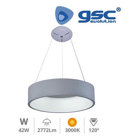 Lampara techo LED Arum 42W 3000K Gris