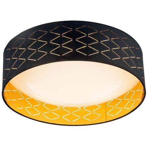 Lámpara techo LED color dorado textil color salón iluminación lámpara efecto estrella Globo 15229D7