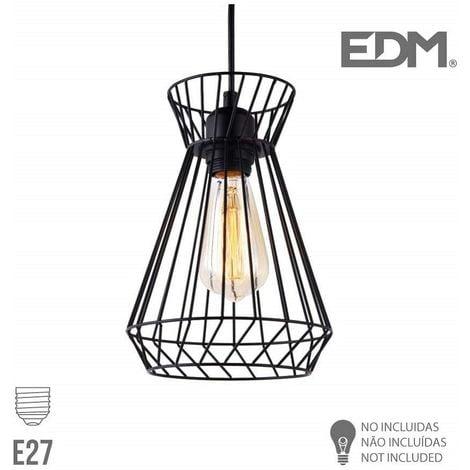 Lámpara techo metálica E27 EDM