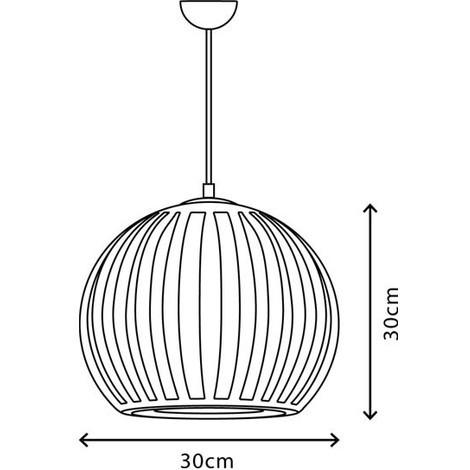 Lámpara techo moderna Topacio (30 cm)